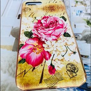 Accessories - For IPhone7 Plus Electroplated Floral Case In Gold